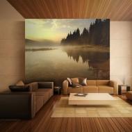 Papier peint  Forêt et lac