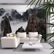 Papier peint  Mer de nuages, Monts Huang Shan, Chine
