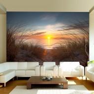 Papier peint  Coucher de soleil sur locéan Atlantique