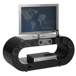 Meuble tv meuble tele enceintes meuble tele enceintes for Meuble tv arrondi