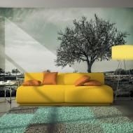 Papier peint  arbre  vintage
