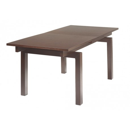 Grande table rectangle avec allonge de 6 à 8 places wengé MATTHE