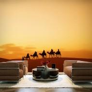 Papier peint  Sur la route des caravanes du Sahara