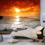 Papier peint  Quel merveilleux coucher de soleil!