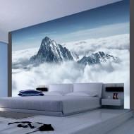 Papier peint  Montagne entourée de nuages