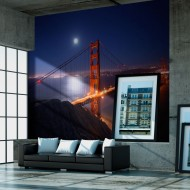 Papier peint  Golden Gate Bridge de nuit