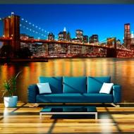 Papier peint  Pont de Brooklyn au crépuscule  New York