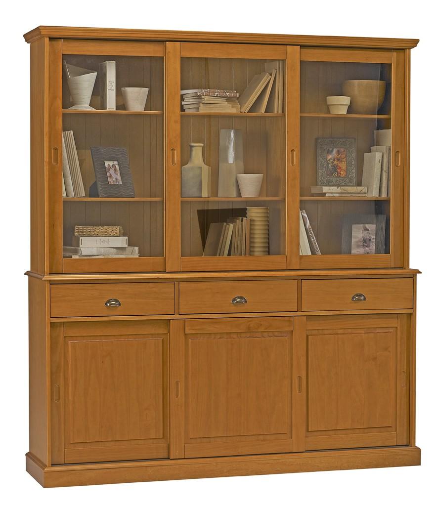 cool buffet vaisselier bibliothque pin miel buffet vaisselier bibliothque pin miel with buffet. Black Bedroom Furniture Sets. Home Design Ideas