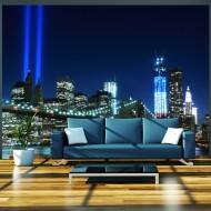 Papier peint  Floodlights over NYC