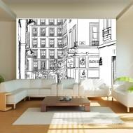 Papier peint  A walk through Parisian streets