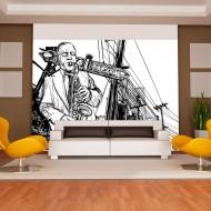 Papier peint  Saxophone recital on Broadway