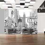 Papier peint  Dans les rues de New York