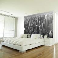 Papier peint  New York gratteciels (vue à vol doiseau)