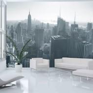 Papier peint  Panorama de New York en noir et blanc