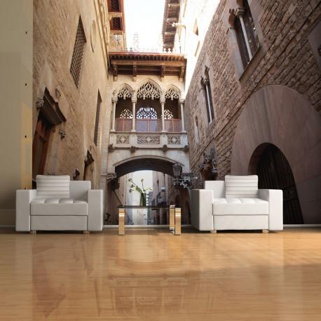 Papier peint  Barcelona Palau generalitat in gothic Barrio
