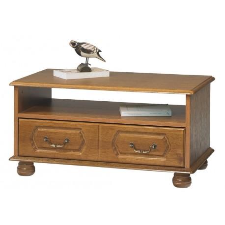 Table basse ch ne rustique rectangle beaux meubles pas chers for Table de salon pas chere
