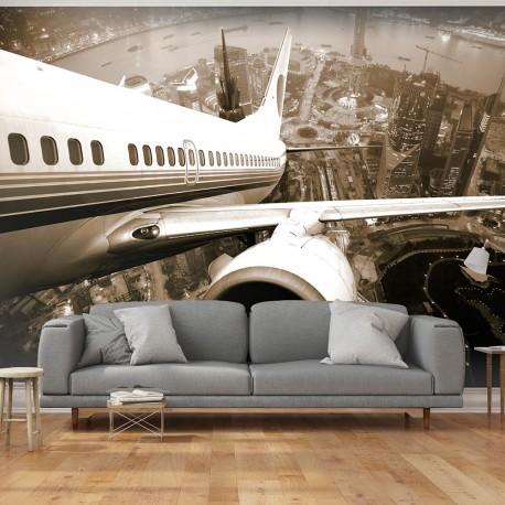 Papier peint  Avion décollant de laéroport