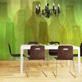 Papier peint - Bouteilles vertes
