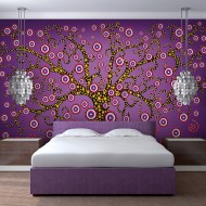 Papier peint  abstraction arbre (violet)