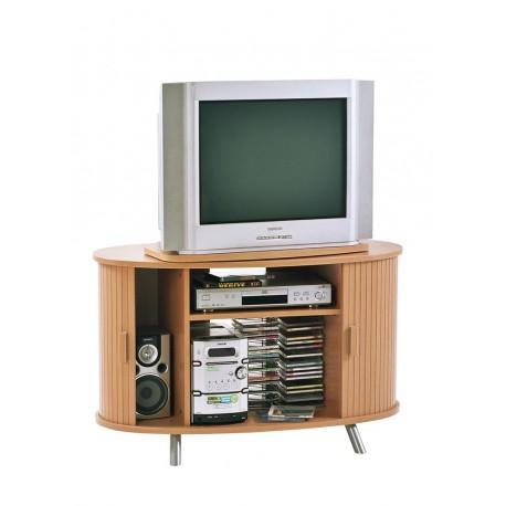 Meuble TV Hifi plateau pivotant hêtre