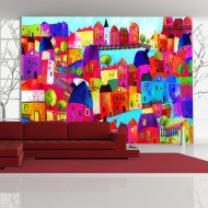 Papier peint  Rainbowhued town