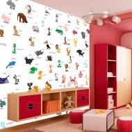 Papier peint  animaux (pour enfants)