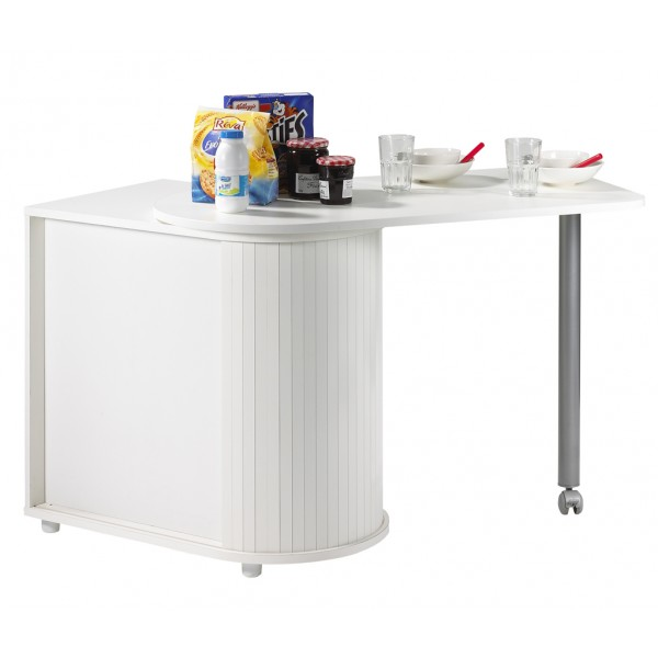 Table rabattable cuisine paris table cuisine pivotante - Table de bar avec rangement ...