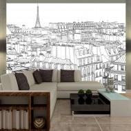 Papier peint  Croquis parisien