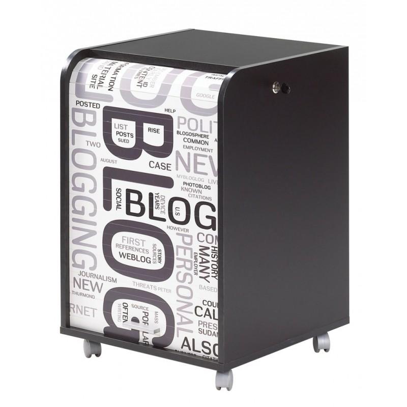 Caisson de bureau noir 2 tiroirs beaux meubles pas chers - Caisson bureau noir ...