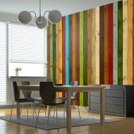 Papier peint  Wooden rainbow