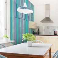 Papier peint  house (turquoise)