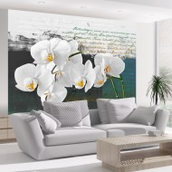 Papier peint  Orchidées  inspiration du poète