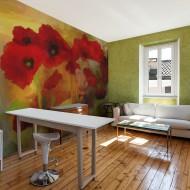 Papier peint  Poppies in warm tone
