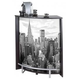 Meuble Comptoir Meuble Bar Noir 96 cm