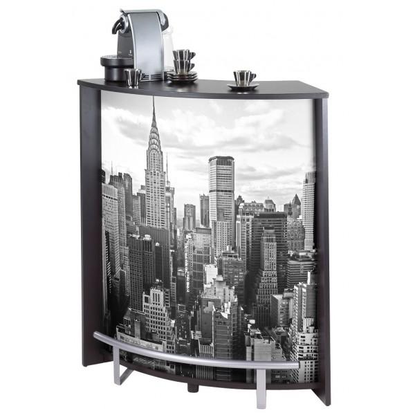 meuble comptoir bar noir imprim beaux meubles pas chers. Black Bedroom Furniture Sets. Home Design Ideas