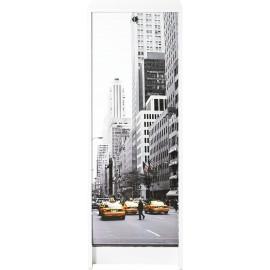 Classeur à Rideau Blanc 104 cm