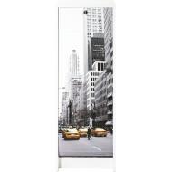Classeur à rideau Blanc Cabine téléphonique Londres hauteur 105 cm