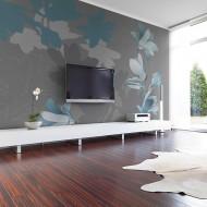 Papier peint  Magnolias bleus