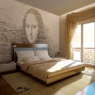 Papier peint  Mona Lisa  portrait en lettres