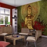 Papier peint  Le Bouddha dor