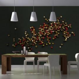 Papier peint - Composition des grains de poivre