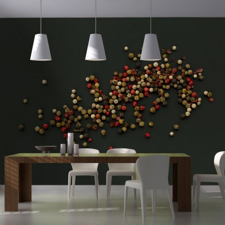 Papier peint  Composition des grains de poivre