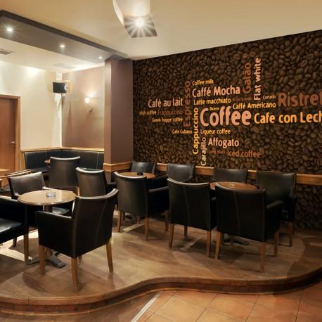 Papier peint  Latte, espresso, cappucino...
