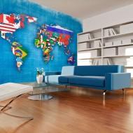 Papier peint  Flags of countries