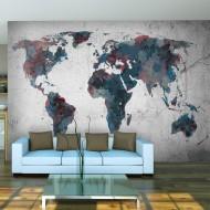 Papier peint  World map on the wall