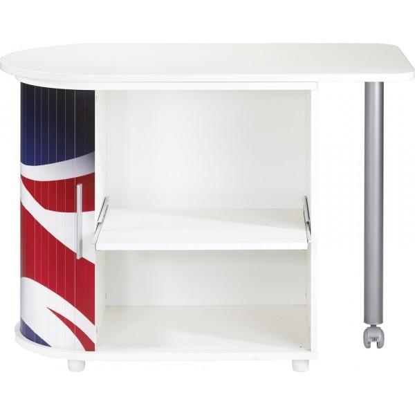 Bureau informatique blanc pivotant beaux meubles pas chers - Bureau drapeau anglais ...