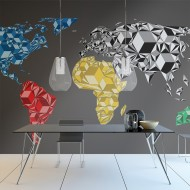 Papier peint  Map of the World  colorful solids