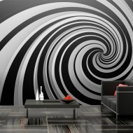 Papier peint XXL  Black and white swirl