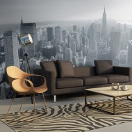 Papier peint XXL  Panorama de New York en noir et blanc