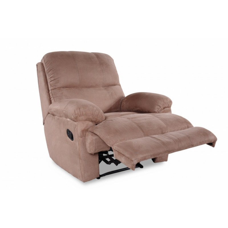 Fauteuil relax microfibre coloris taupe - Canape microfibre taupe ...